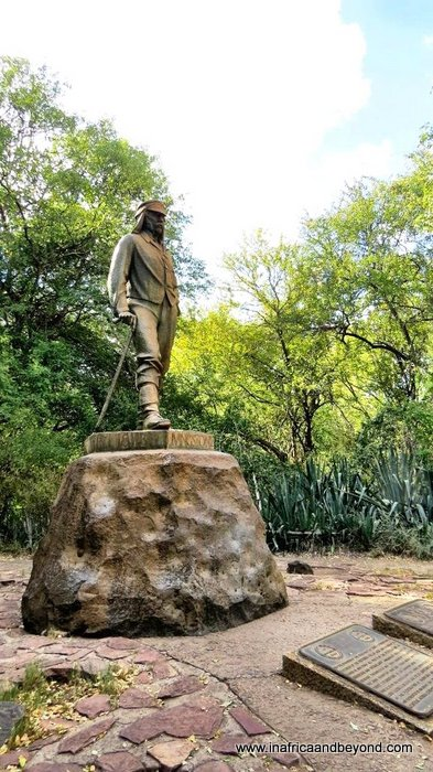 Statue of David Livingstone at the Victoria Falls