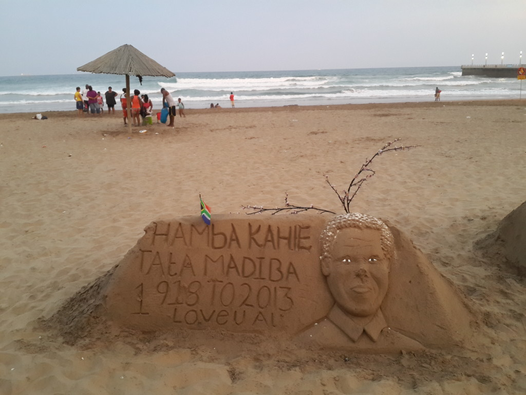 Beach Tribute to Nelson Mandela