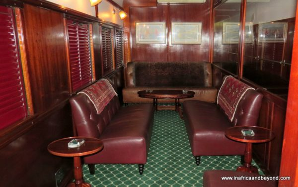Smoking room Rovos Rail