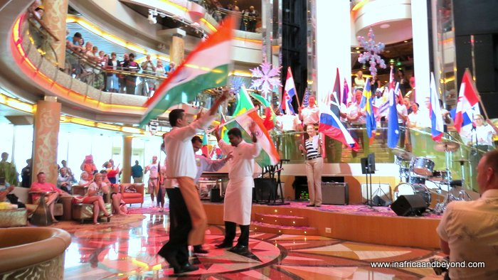 Staff flag parade Splendour of the Seas