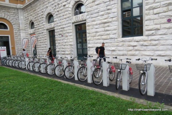 Bicycles outside Pisa Centrale Station