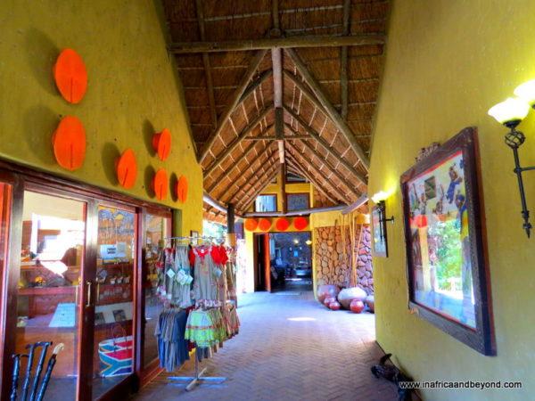 Entrance and Curio Shop Tau Game Lodge