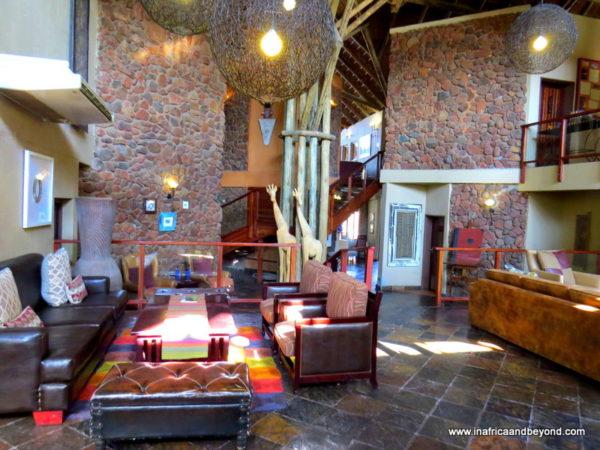 Reception area Tau Game Lodge