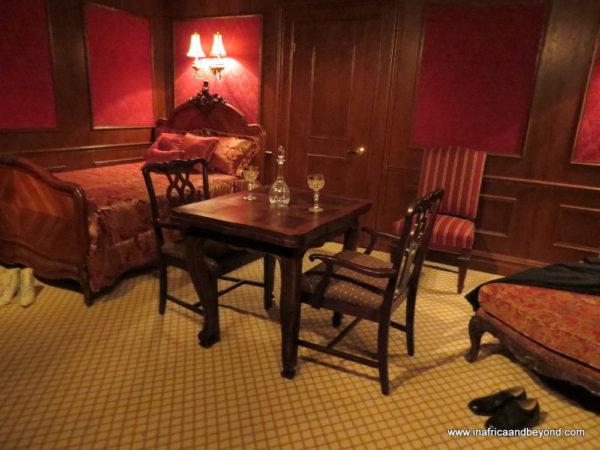 First class passenger's bedroom Titanic Titanic exhibition