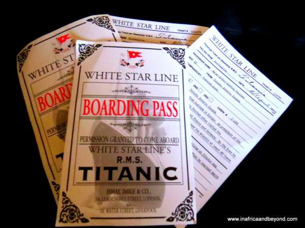 Titanic boarding pass - Titanic exhibition