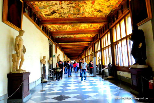 the best city in the world - Uffizi Gallery Corridor