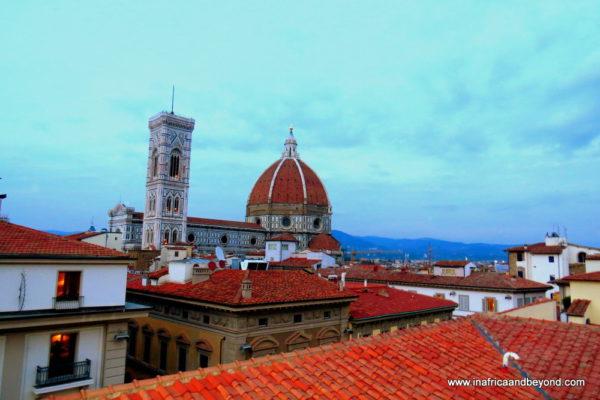 View of Duomo from Piazza della Repubblica