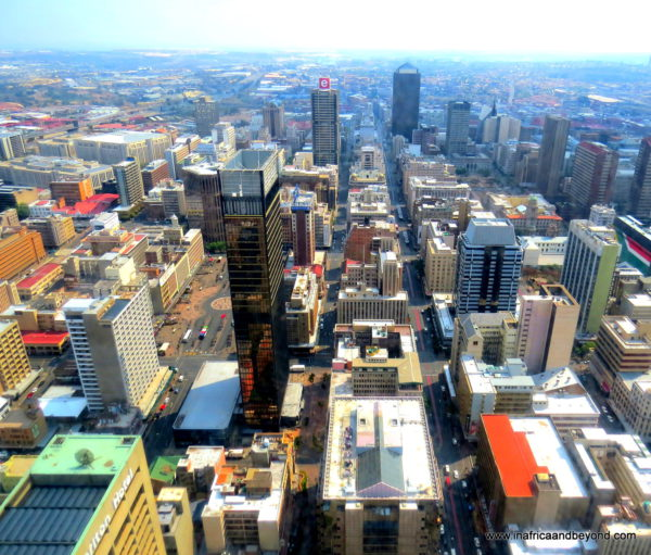 Johannesburg from the Top of Africa - the 50th floor of Carlton Centre - Photos of South Africa