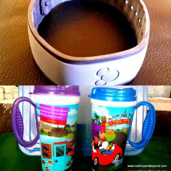Disney Magic Band and Disney Mugs