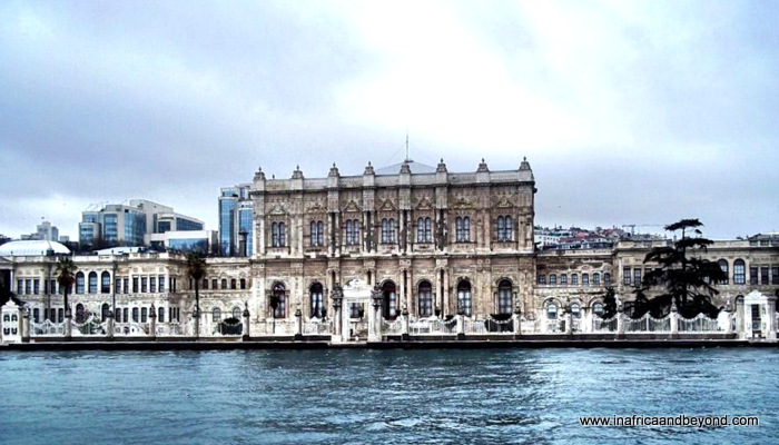 Dolmahbahce Palace from the Bosphorus Cruise