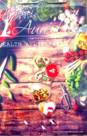 Aurelies Health & Lifestyle Cafe menu