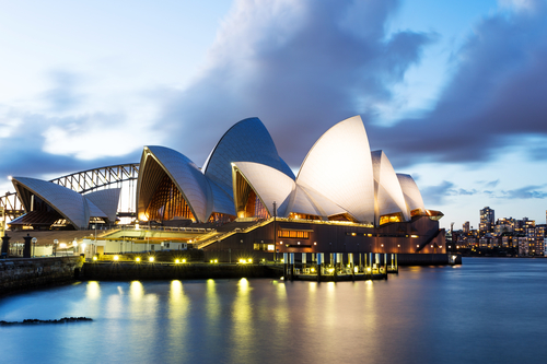 the scenery of sydney opera house Australia Bucket List