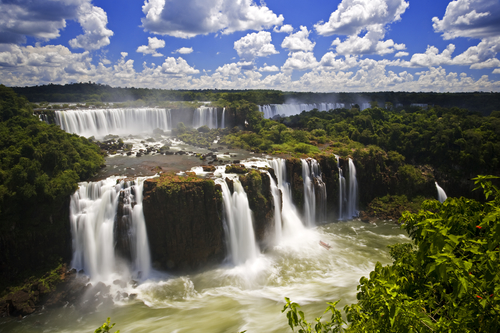 Iguassu Falls is the largest series of waterfalls on the planet, located in Brazil, Argentina, and Paraguay. Bucket List