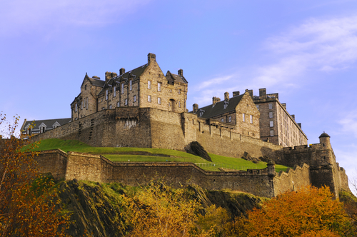 Edinburgh Castle on a beautiful clear, crisp fall day. Scotland Sara Essop