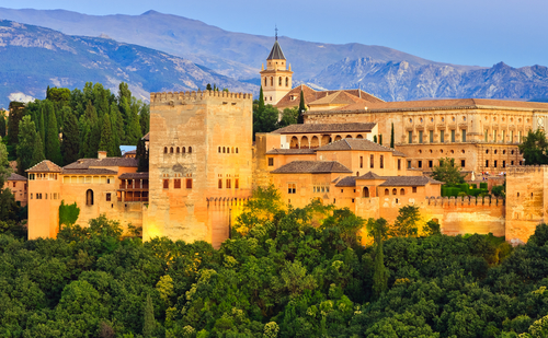 Alhambra palace at night, Granada, Spain Bucket List