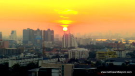 Sunset in Bangkok - Somerset Park Suanplu
