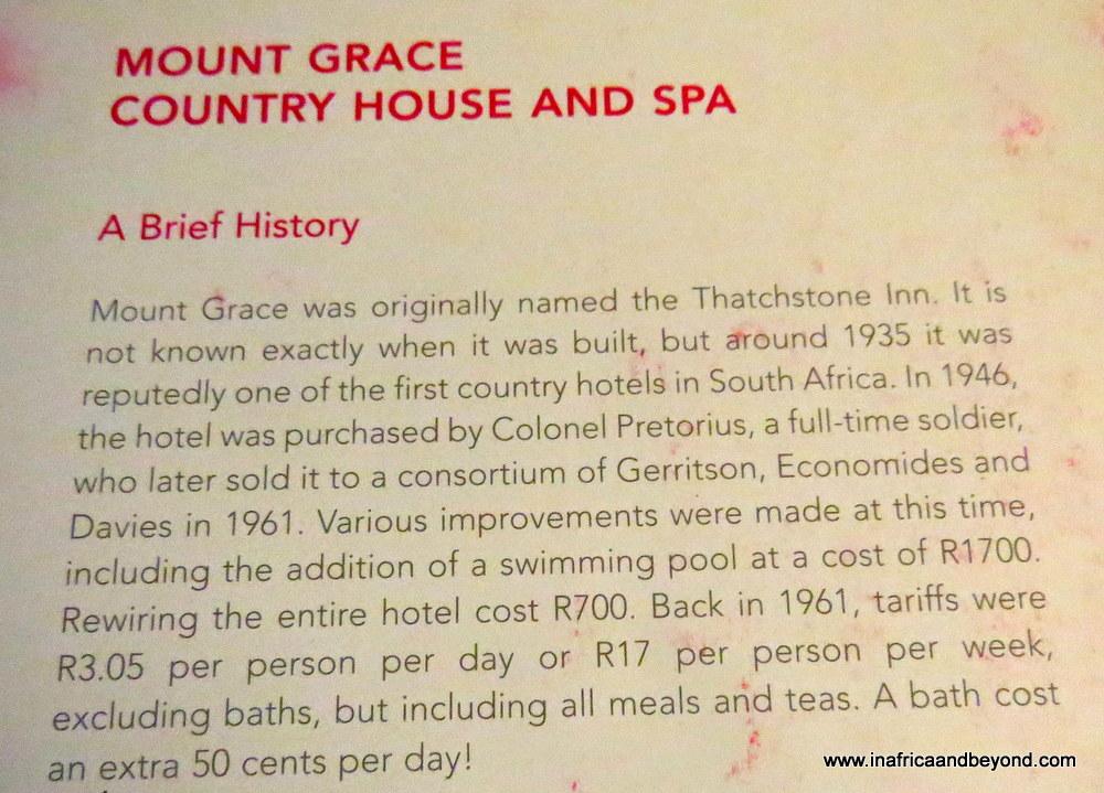 Mount Grace history