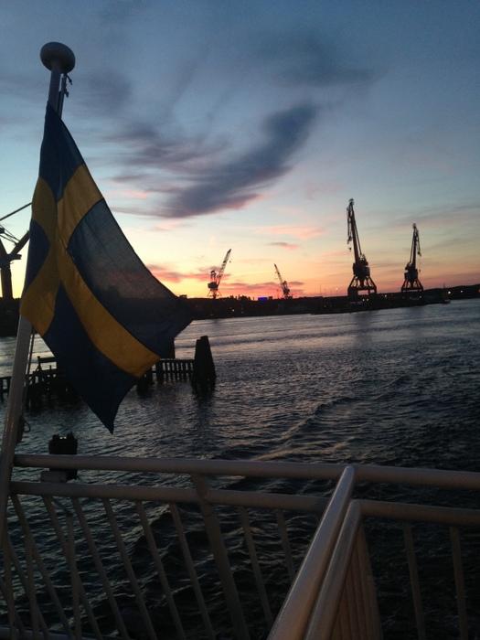 Ferry ride in Gothenburg Elle