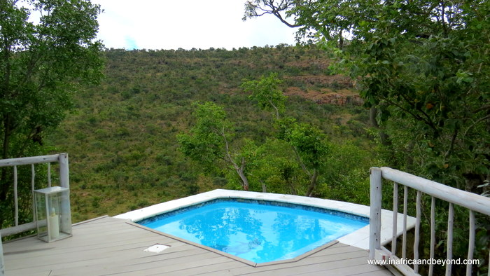 Clifftop Our private plunge pool
