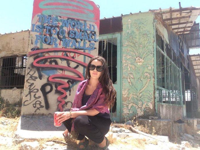 Sara Essop - High Heels & a backpack