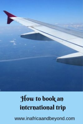 How to book an international trip