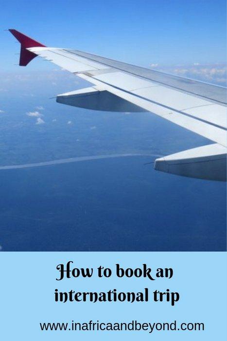 How to book an international trip