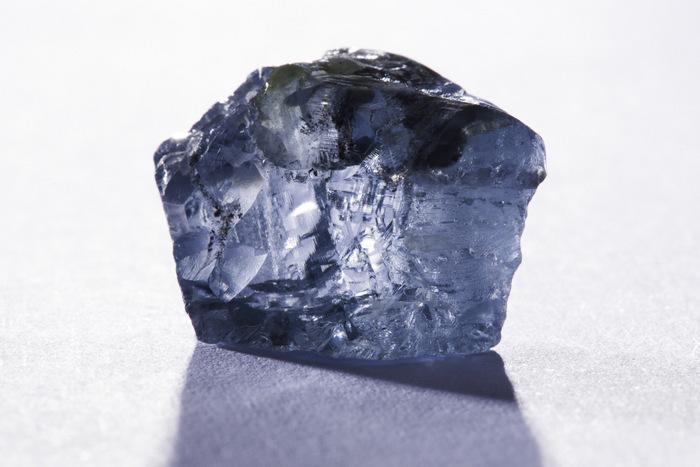 Mina Cullinan con diamante azul